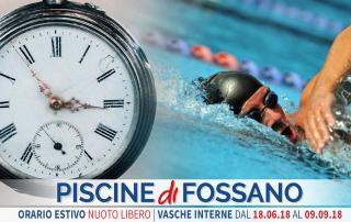Orario nuoto libero estate Piscina Fossano Cuneo