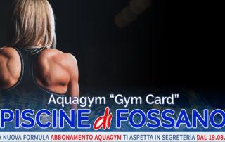 Gym Card Aquagym Piscina Fossano