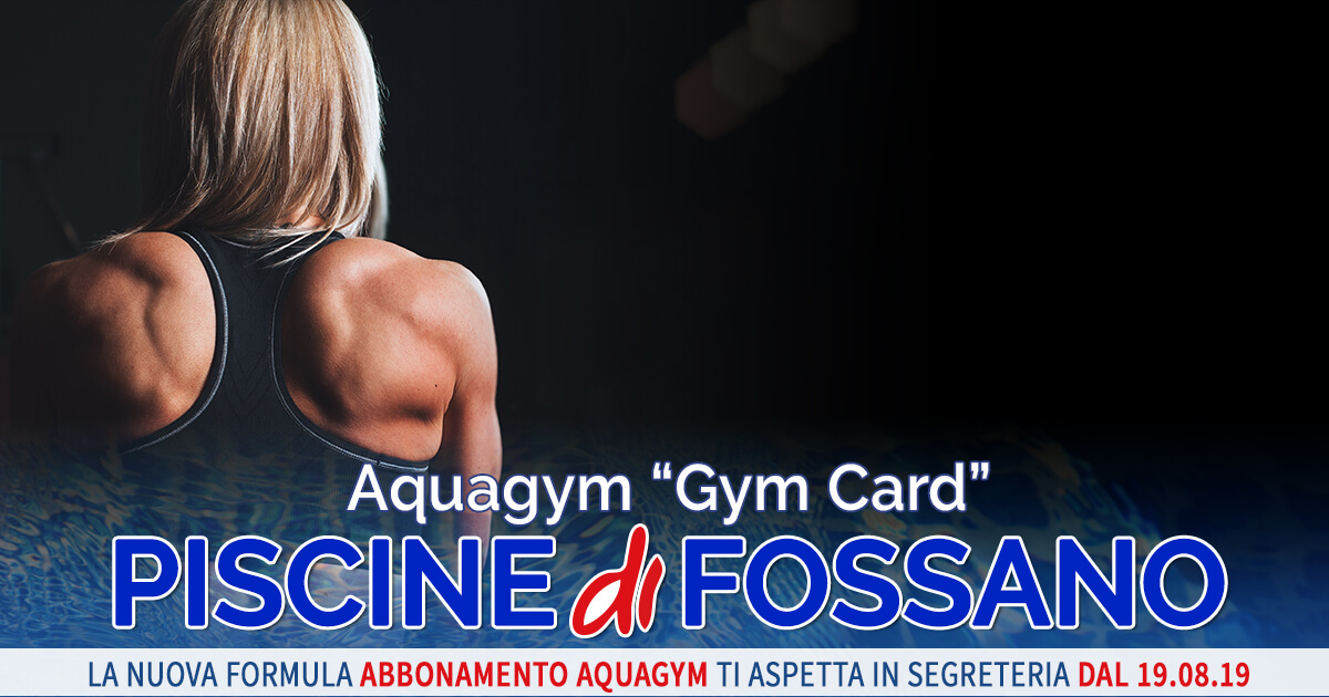 Gym Card Aquagym Piscina Fossano