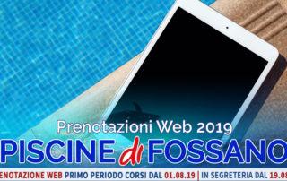 Prenotazioni Web 2019 corsi piscina fossano cuneo